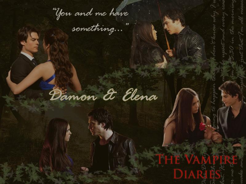 vampire diaries wallpaper damon Elena and Damon   The Vampire 800x600