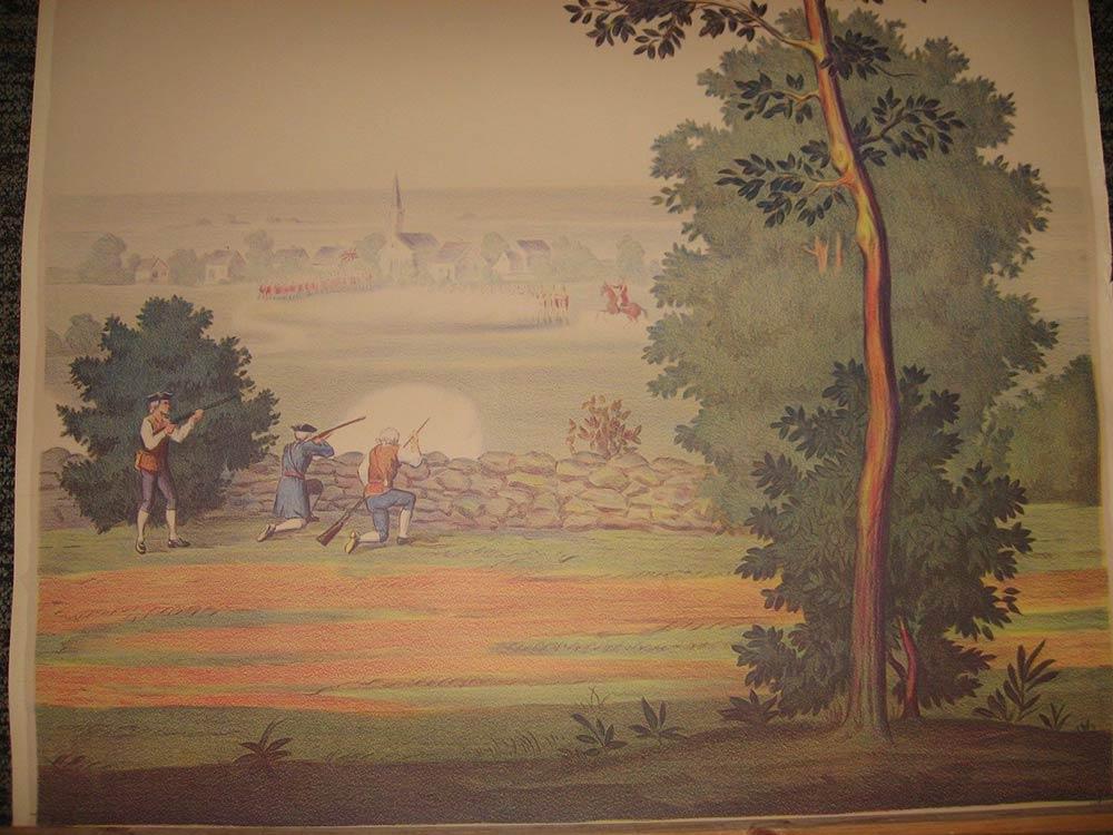 Full room vintage wallpaper murals by The Schmitz Horning Co   Retro 1000x750