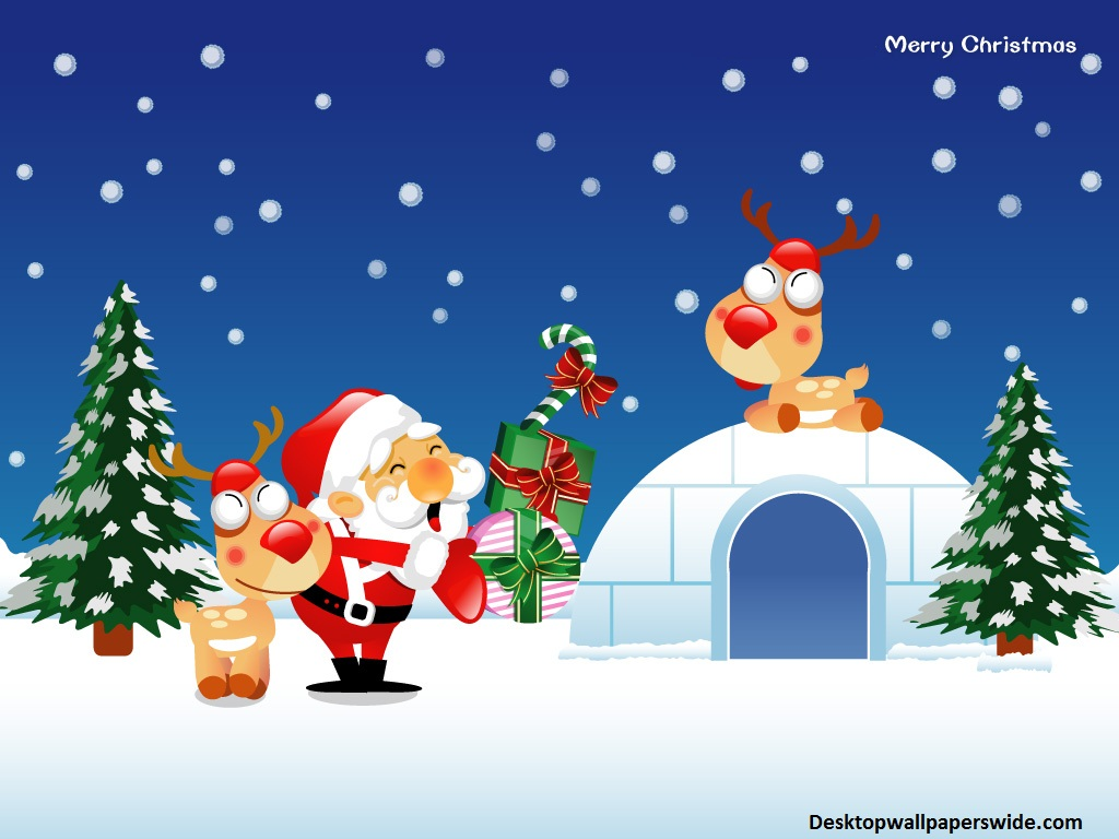 Christmas Cartoon   Wallpapers Pictures Pics Photos Images 1024x768
