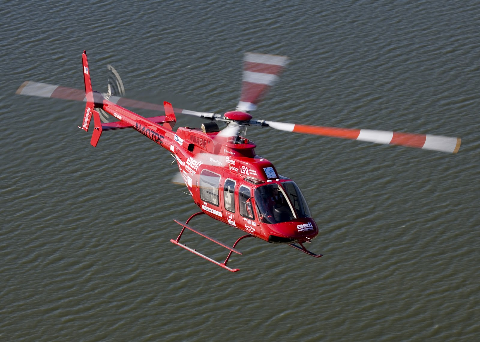 Helicopter Bell 407 Ranger in Red Aircraft Wallpaper 2645 1600x1143