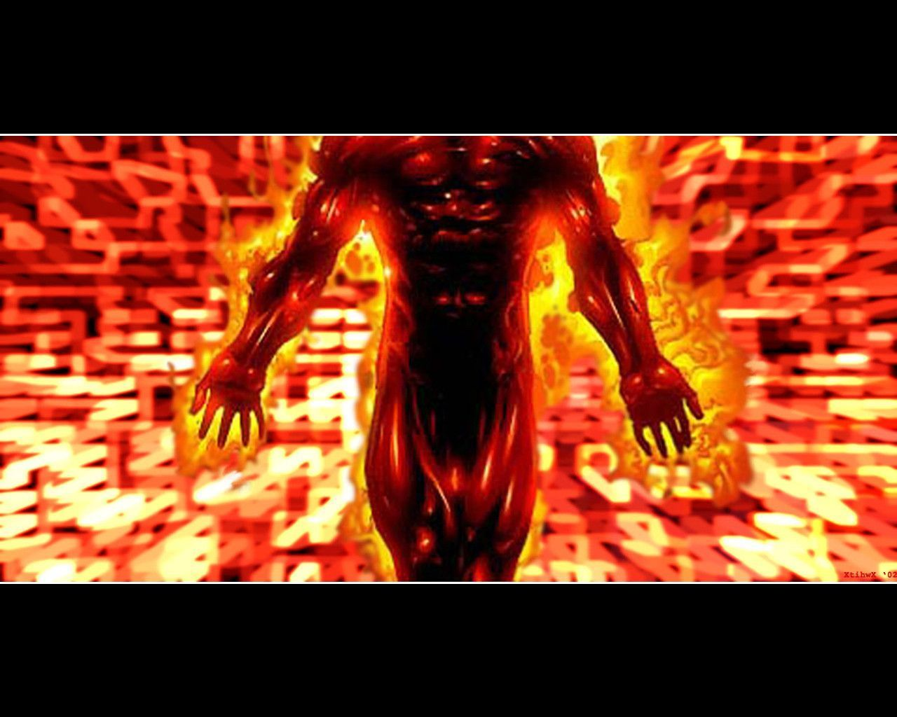 Headless Human Torch Wallpaper by xtihwx 1280x1024