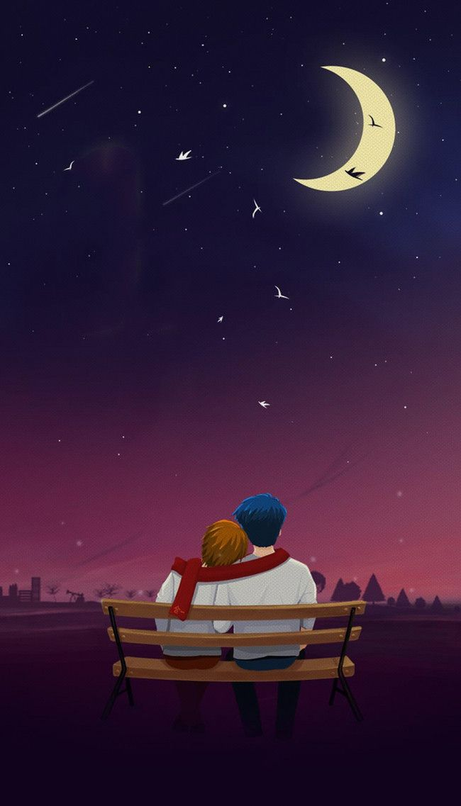 Moon Under The Couple Poster Background Rrrr in 2019 Poster 650x1137