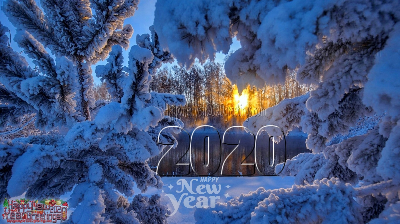 Happy New Year 2020 Nature Photos Download For Desktop   New year 1366x768
