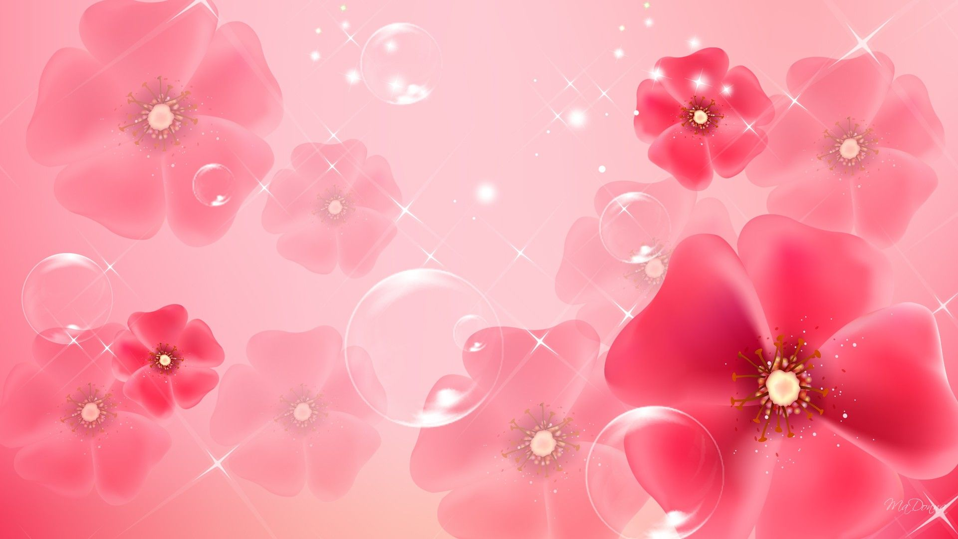 Free Download Light Pink Flower Wallpapers 1920x1080 For Your