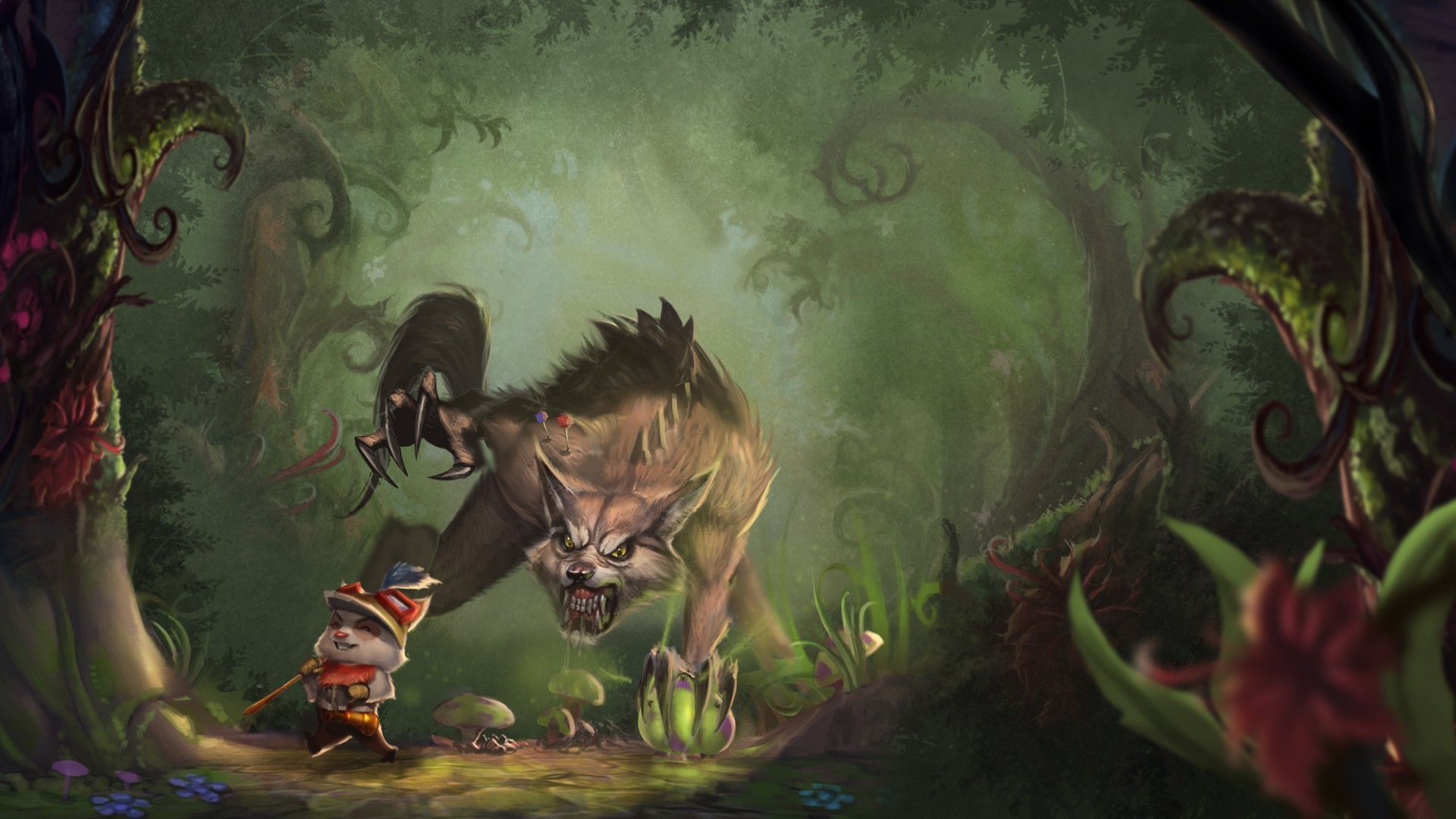 Free Download Teemo And Warwick League Of Legends Wallpaper 4061