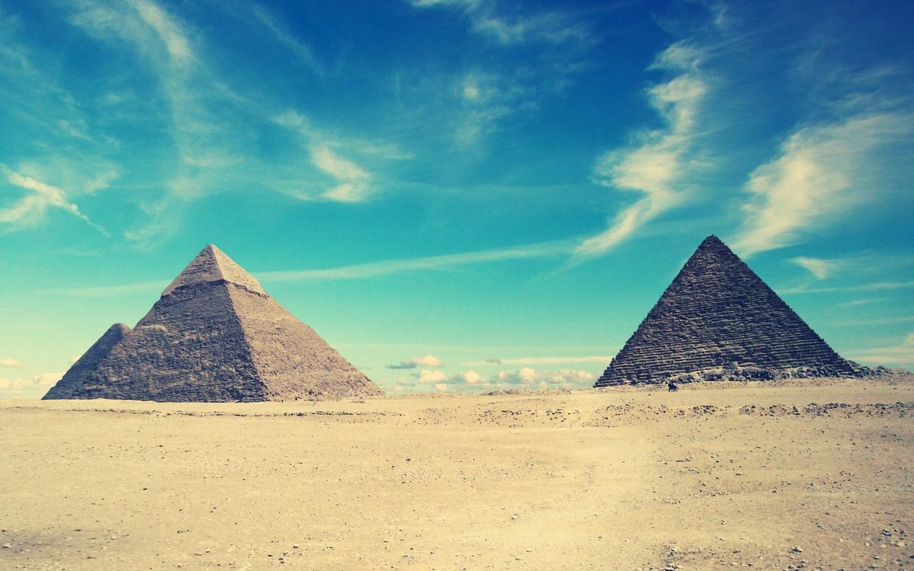 1280x800 Egyptian Pyramids desktop PC and Mac wallpaper 1280x800