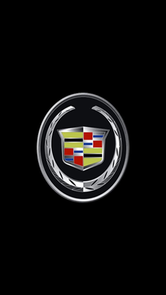 Cadillac 2 LOGO iPhone Wallpapers iPhone 5s4s3G Wallpapers 640x1136