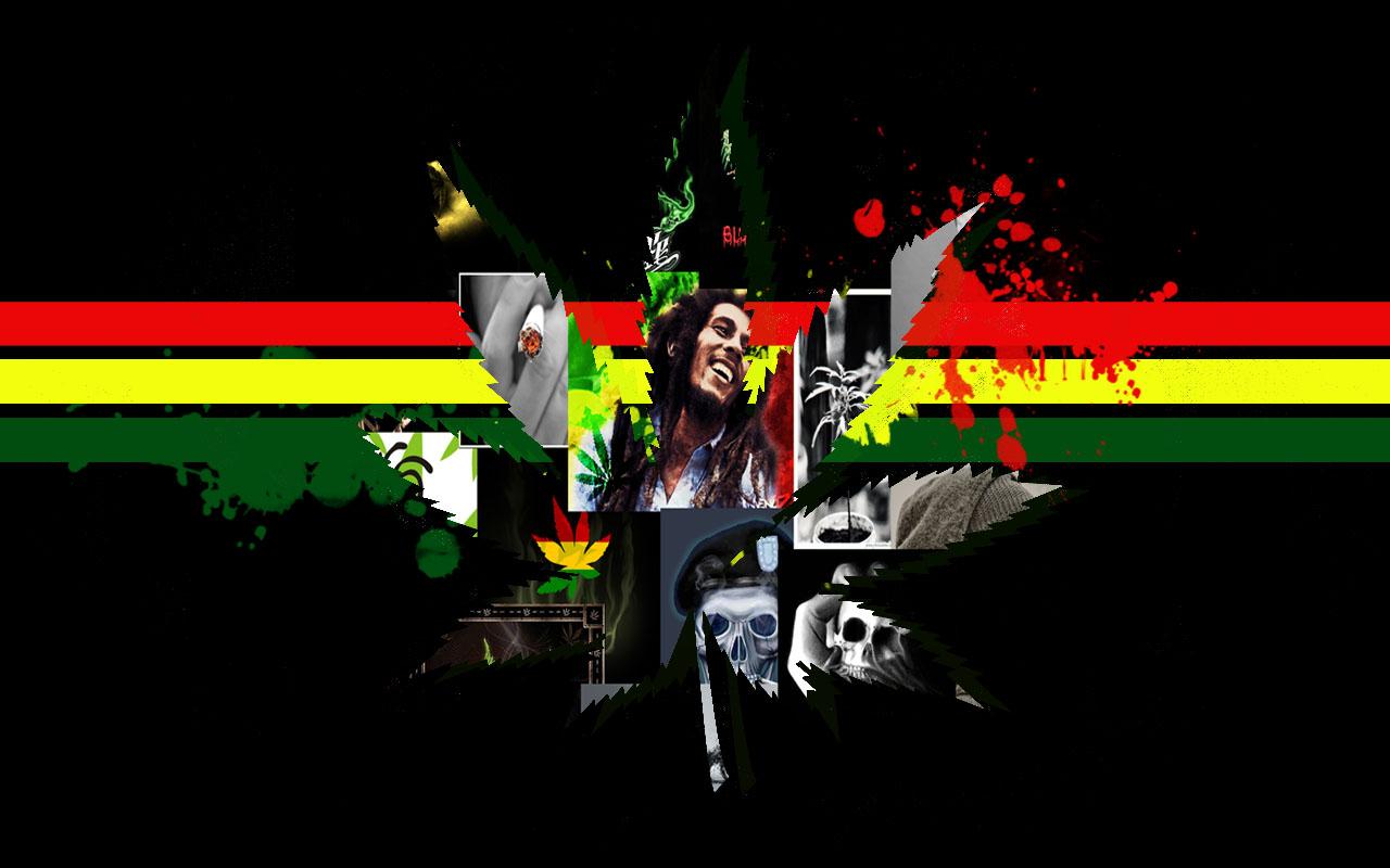 Marijuana Jamaica Raggae Wall by kinderitza 1280x800