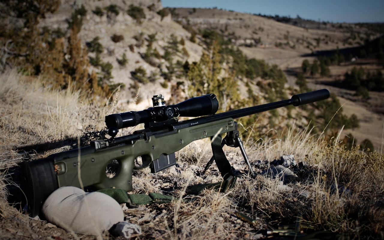 L96A1 sniper rifle Wallpapers HD Wallpaper Downloads 1280x800