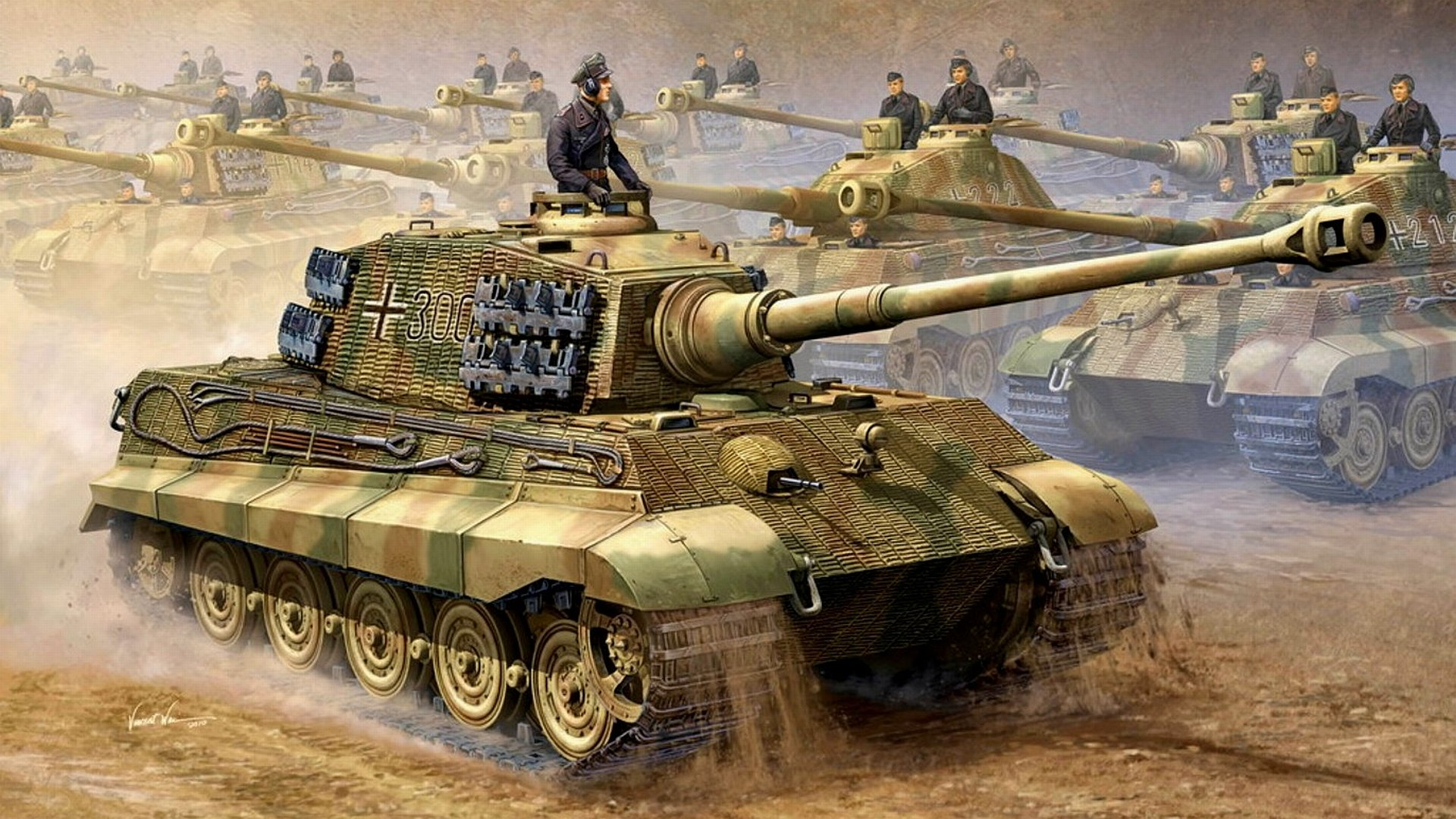 48 King Tiger Tank Wallpaper On Wallpapersafari