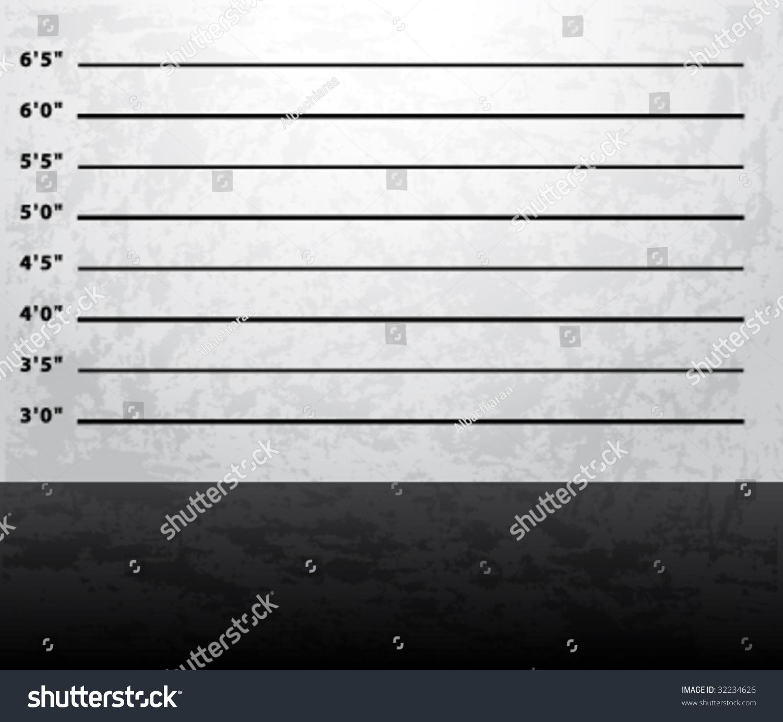 Mugshot Prison Background Vector Stock Vector Royalty 32234626 1500x1383