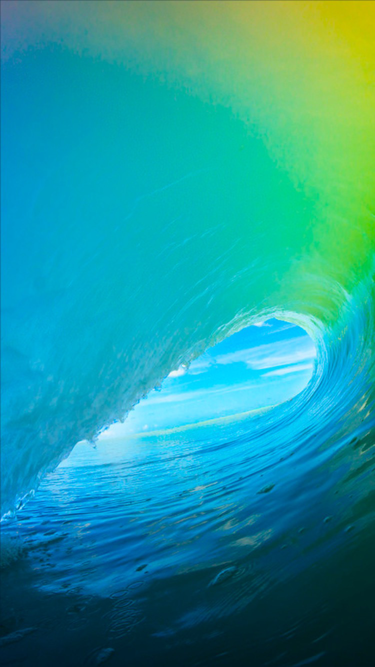 The new iOS 9 wallpaper for iPhone 750x1334
