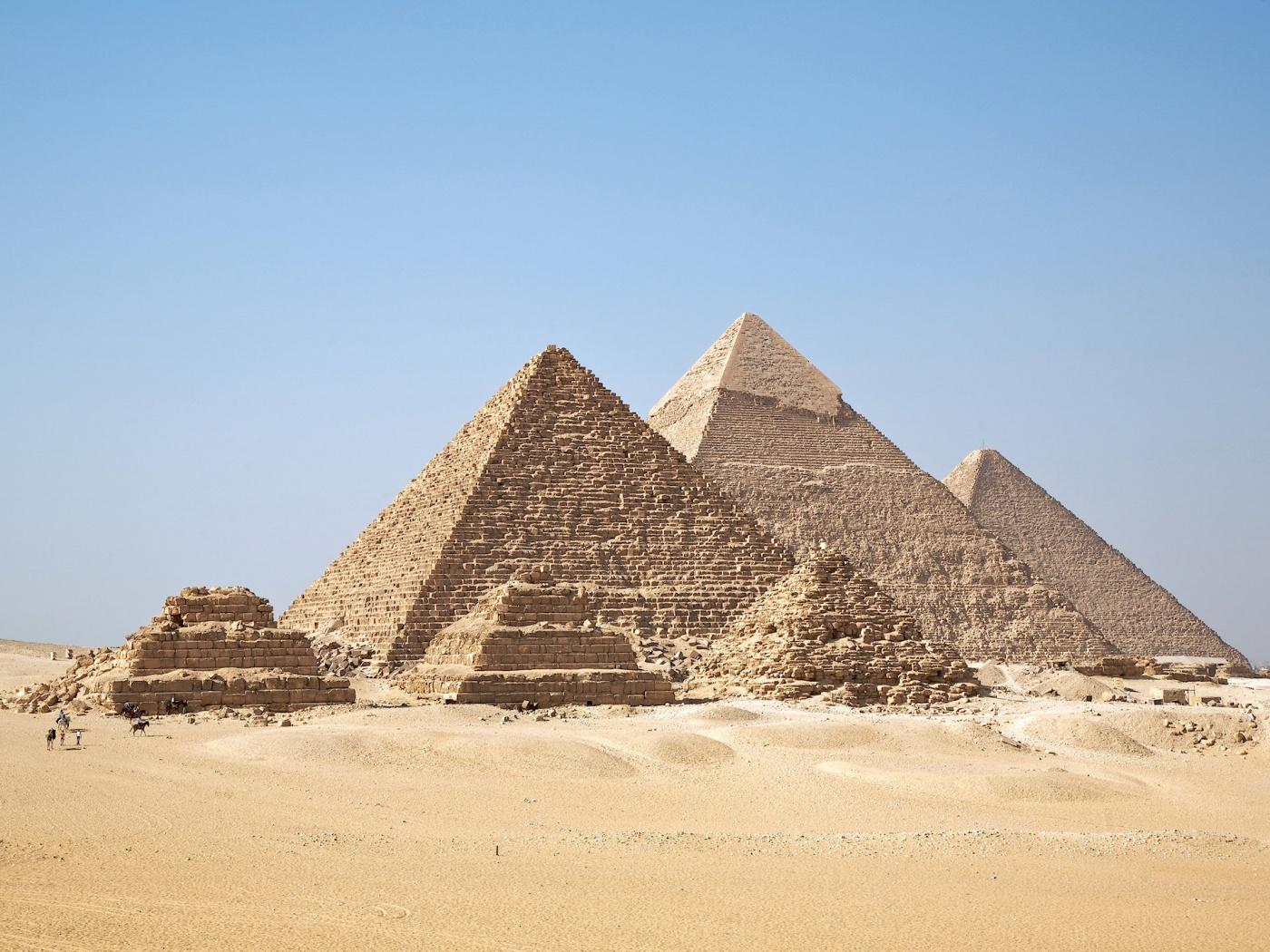 Egyptian Pyramids Wallpaper   1400x1050 1400x1050