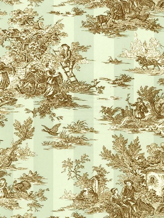 Wallpaper French Countryside Pastoral Toile by WallpaperYourWorld 6 537x713