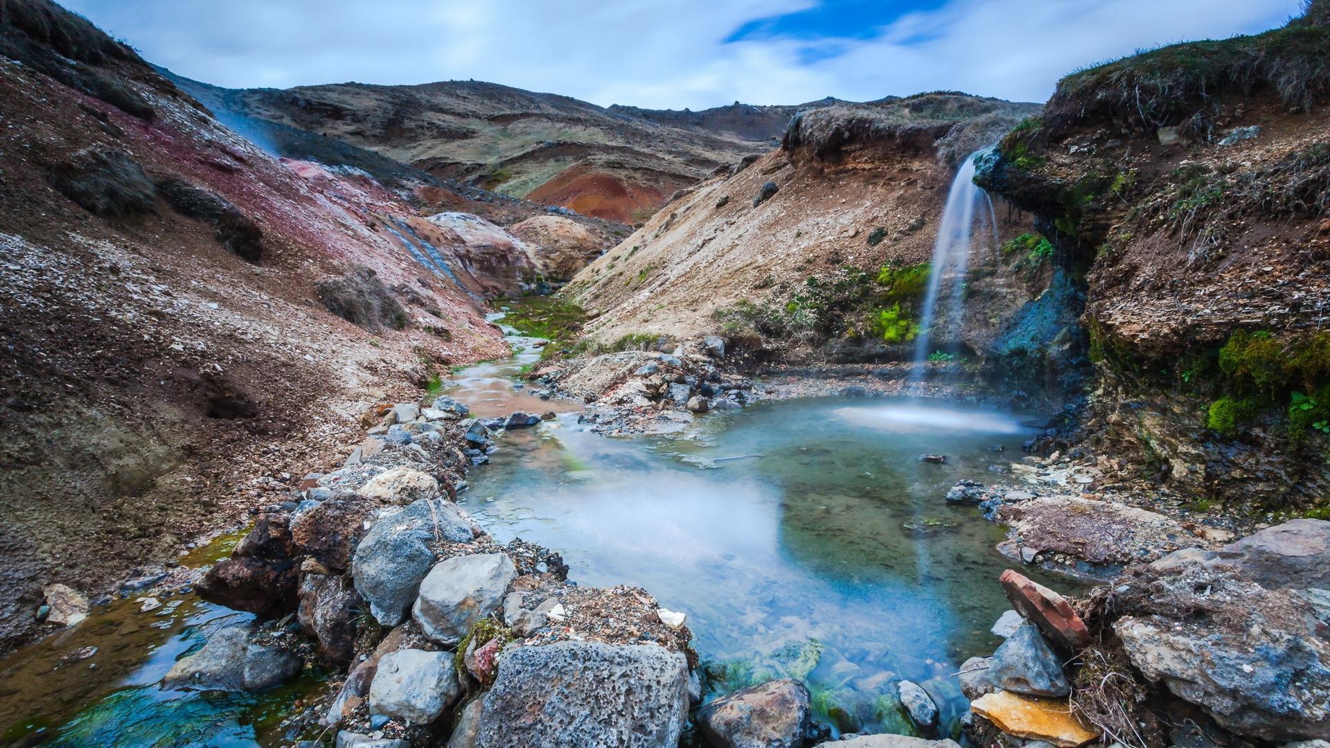Wallpaper 1920x1080 River Rocks Nature Full HD 1080p HD Background 1920x1080