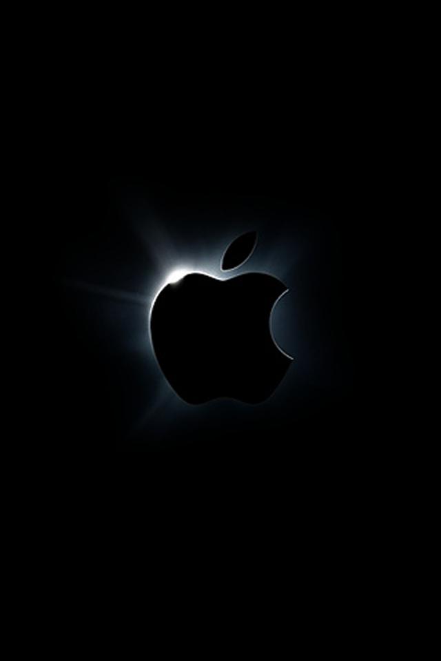 Black Apple Logo Wallpaper For Iphone Bestpicture1 Org