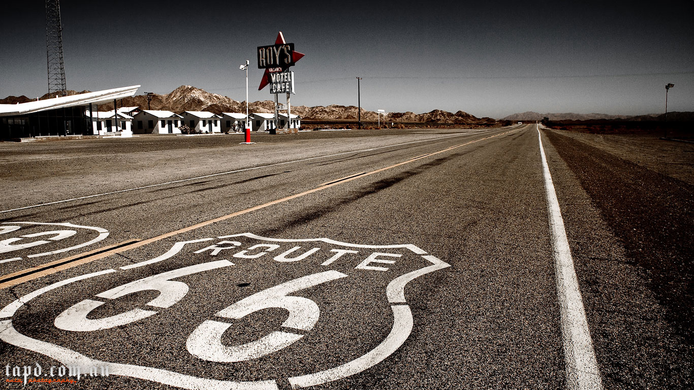 Free Download Route 66 Pin Up Wallpaper 1366x768 For Your