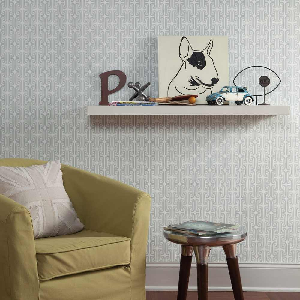 Removable Wall Decals   Chain Link Wallpaper   White Gray I Wall 1000x1000