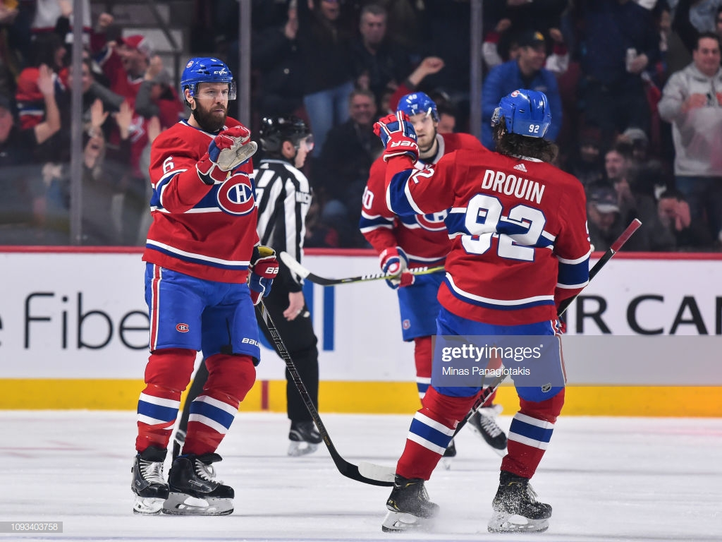 Shea Weber of the Montreal Canadiens celebrates his first period 1024x768
