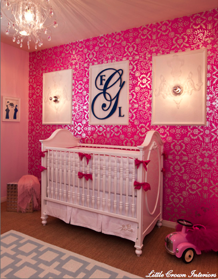 Girly Girl Baby Nursery Rooms   Simplified Bee 440x563