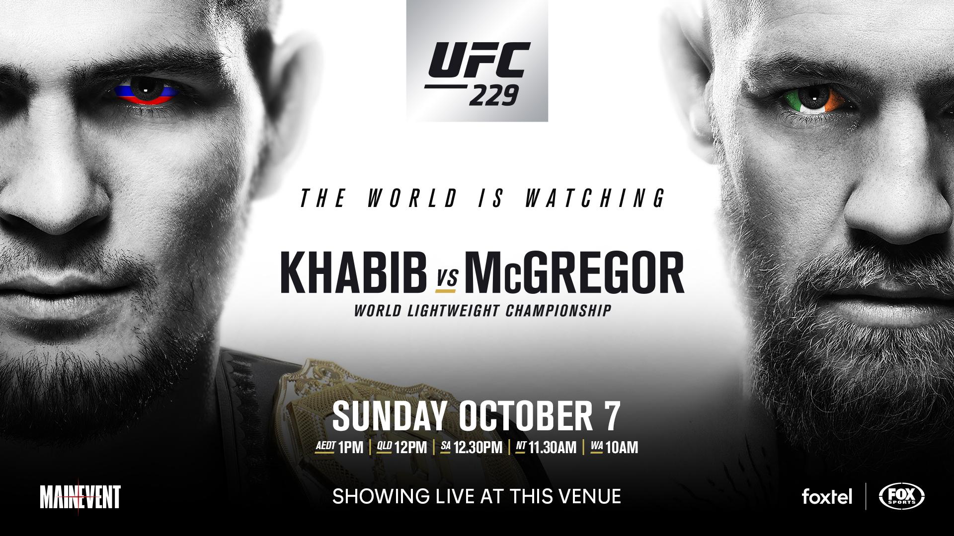 UFC 229 Khabib vs McGregor The Cove Hotel 1920x1080