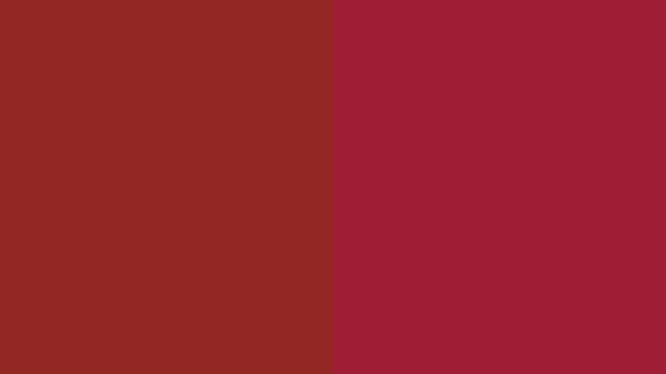 resolution Vivid Auburn and Vivid Burgundy solid two color background 1366x768