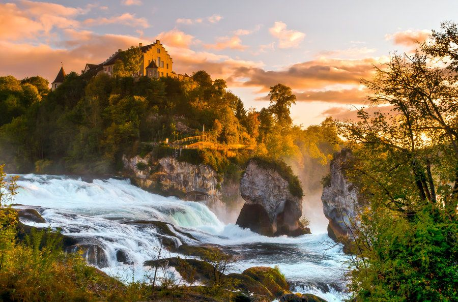 Rhine Falls Nature HD Wallpaper Nature Cool places to visit 900x594