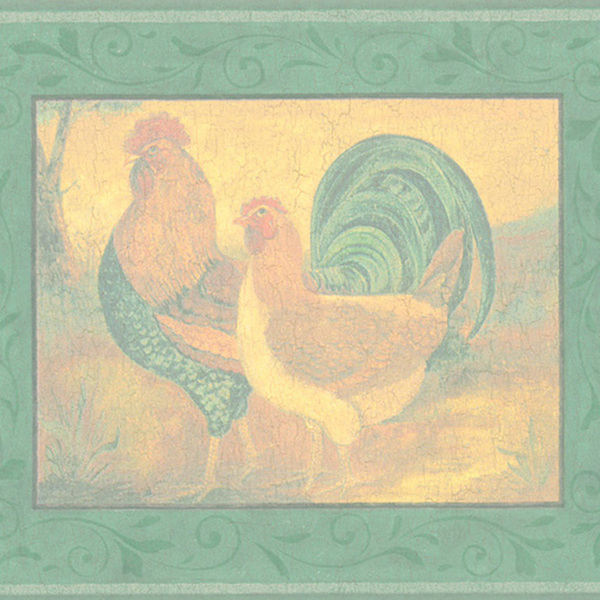 green rooster border wallpaper green rooster border wallpaper this 600x600