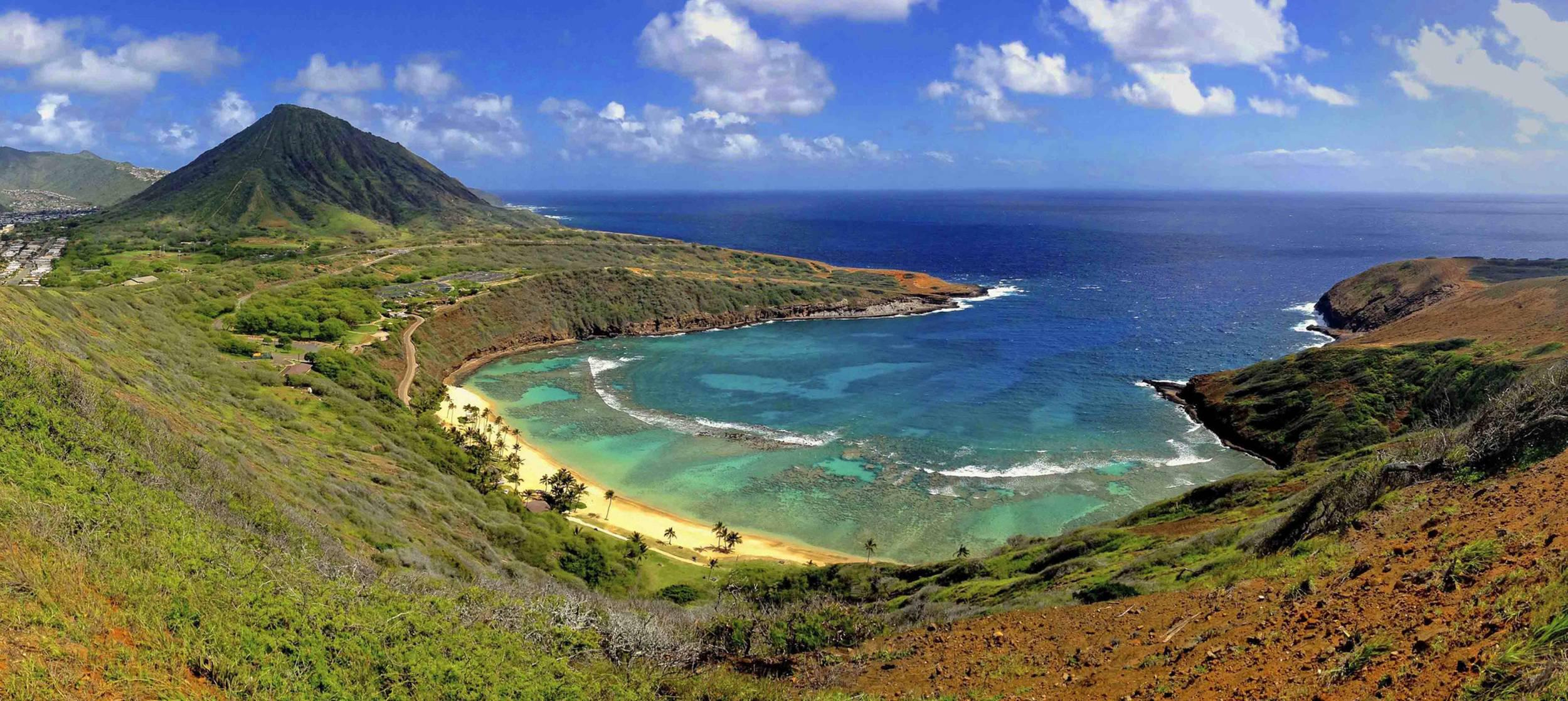 bay oahu hawaii   145239   High Quality and Resolution Wallpapers 2500x1117