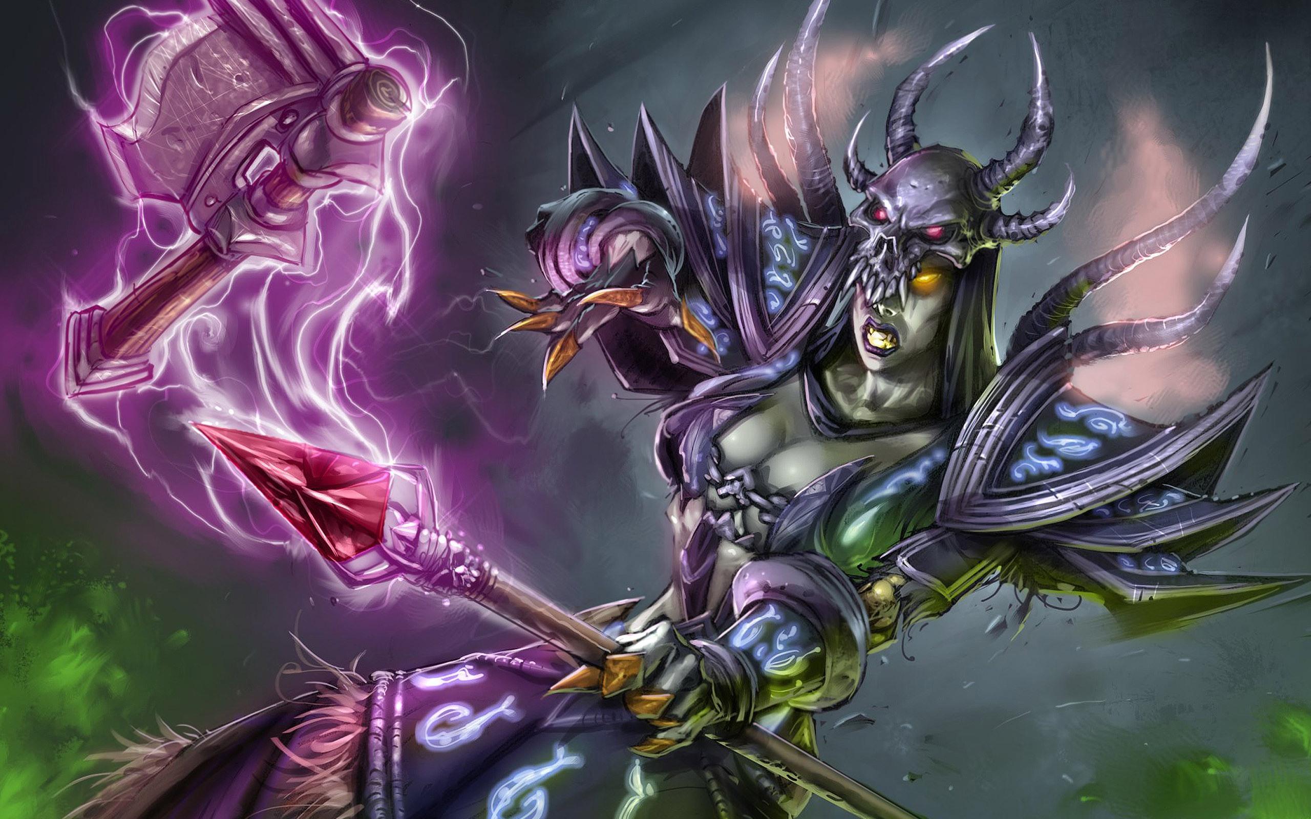 Free Download Wow Orc Warlock Wallpaper World Of Warcraft Warlock