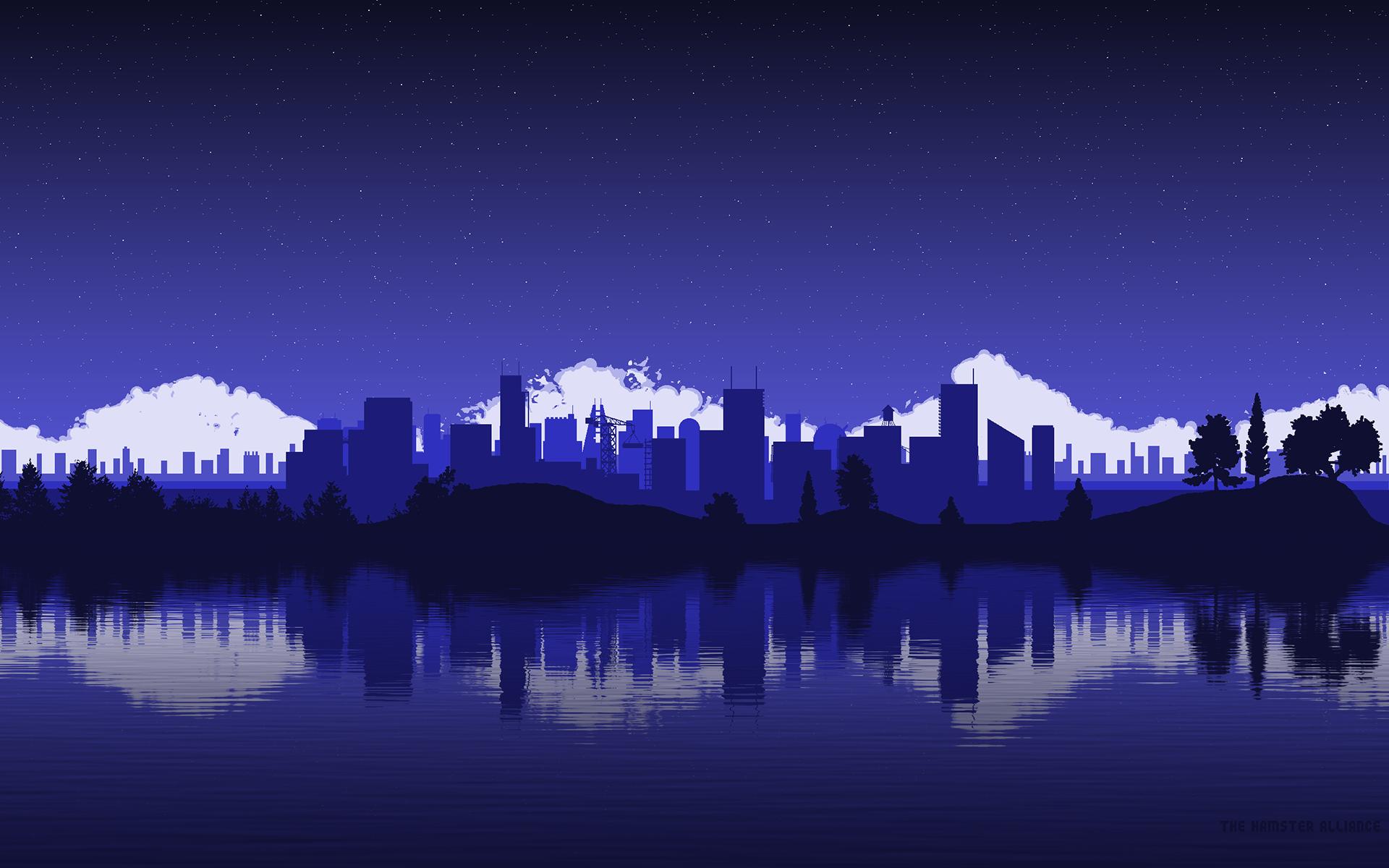 Pixel Art Wallpapers   post Pixel art background City wallpaper 1920x1200