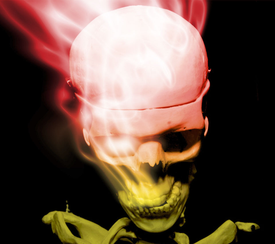 Smoking Skull Wallpapers