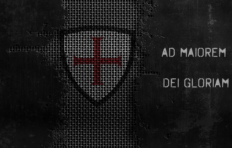 Wallpaper grid cross jesus christ templar motto metallic 1332x850