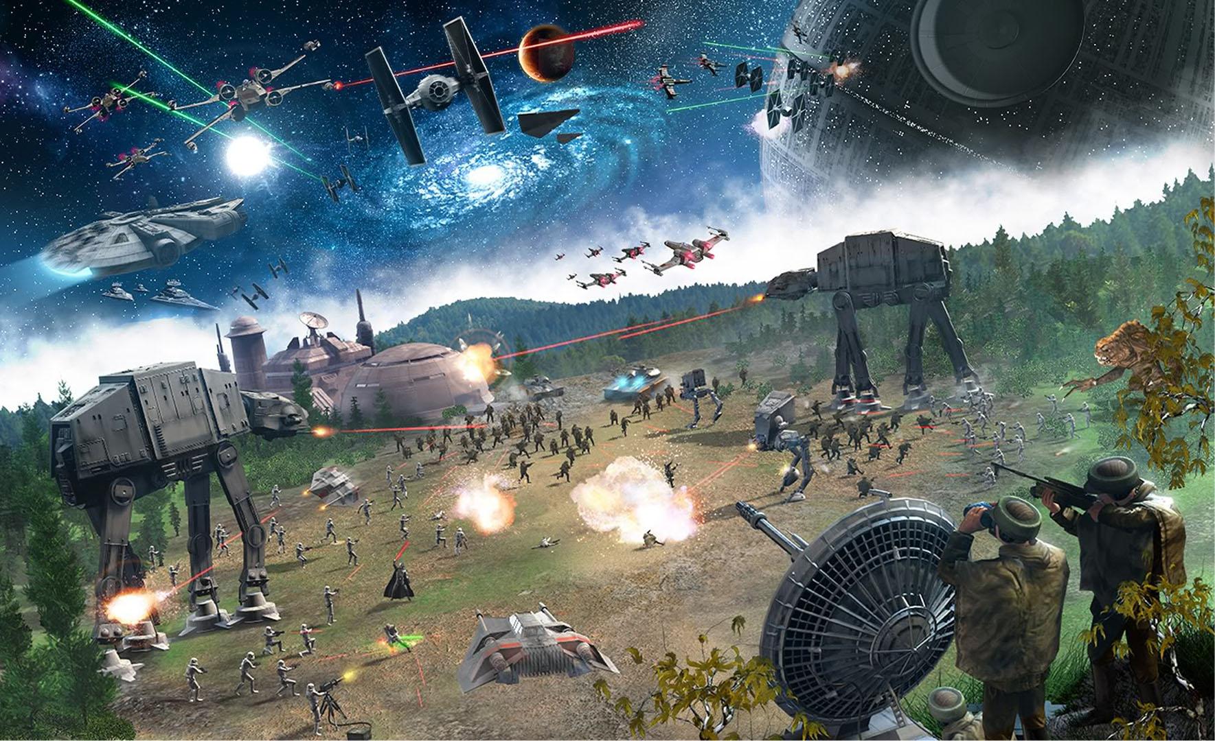 Star Wars Rebel Wallpaper Star wars massive battle 1769x1080