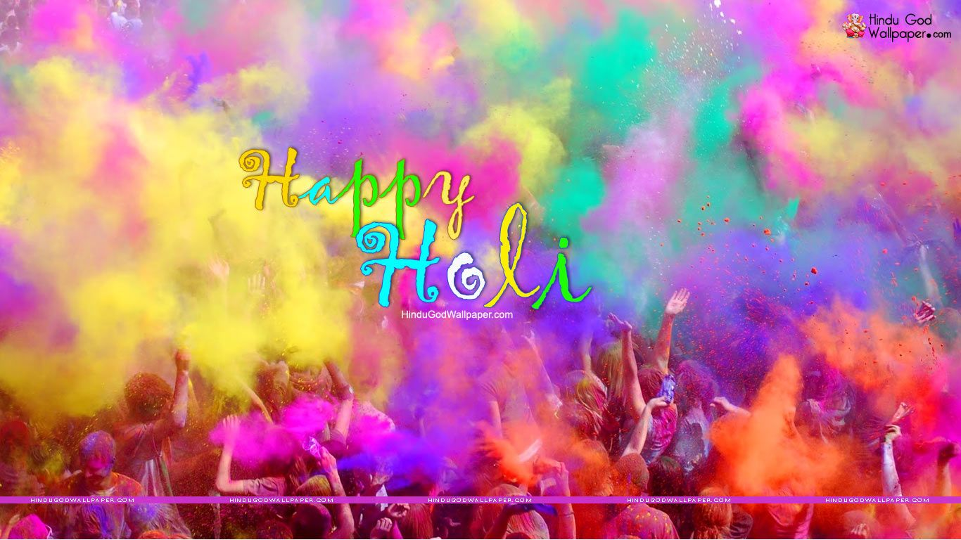 Colourful Holi Wallpapers HD for Desktop Download Holi 1366x768