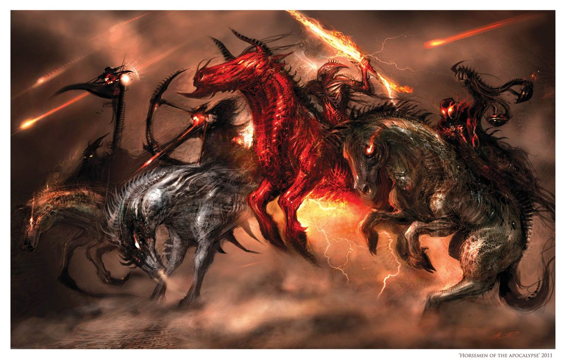 Four Horsemen of the Apocalypse by AlexRuizArt 1115x717