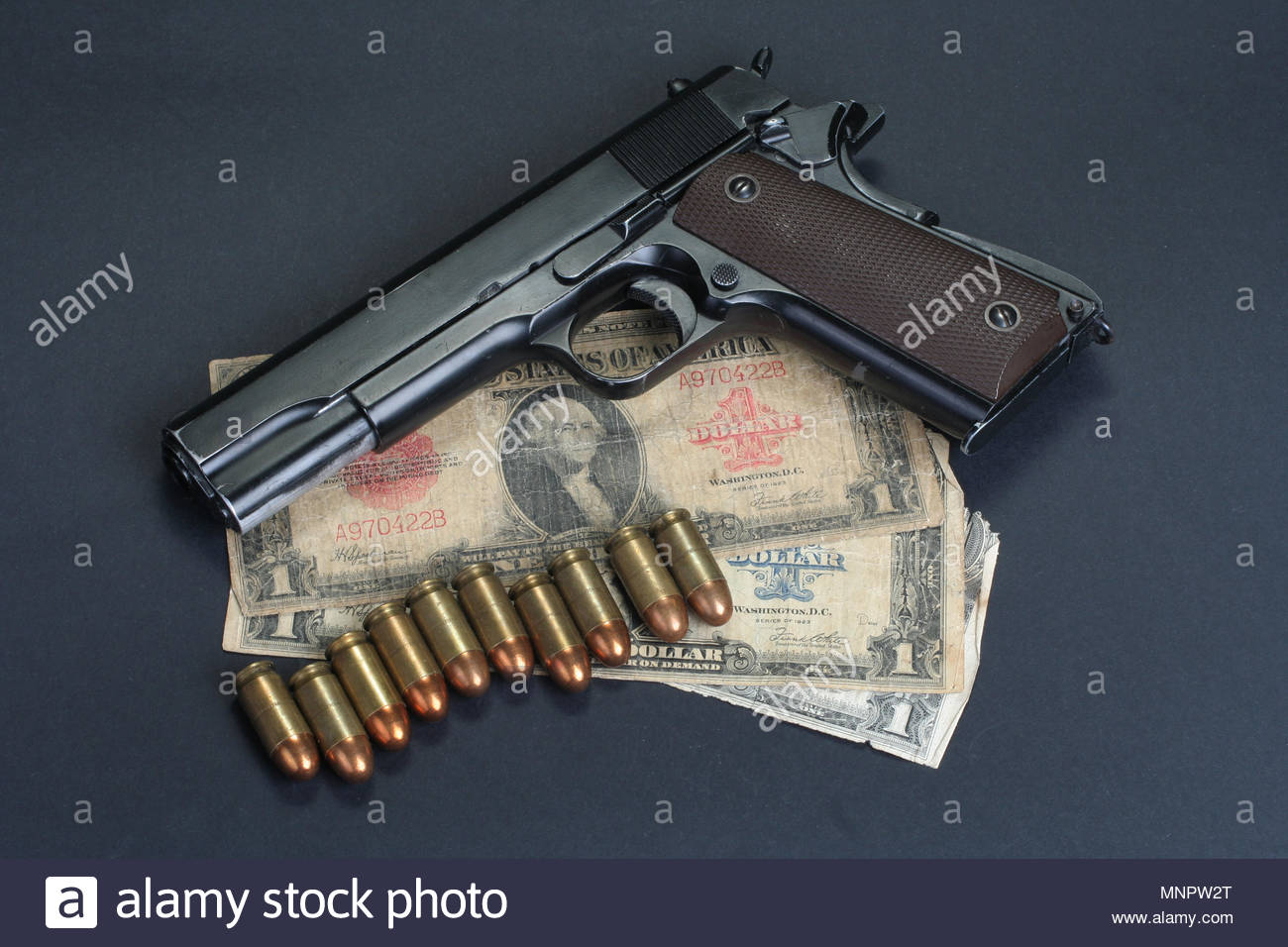 colt goverment M1911 on black background Stock Photo 185514080 1300x956