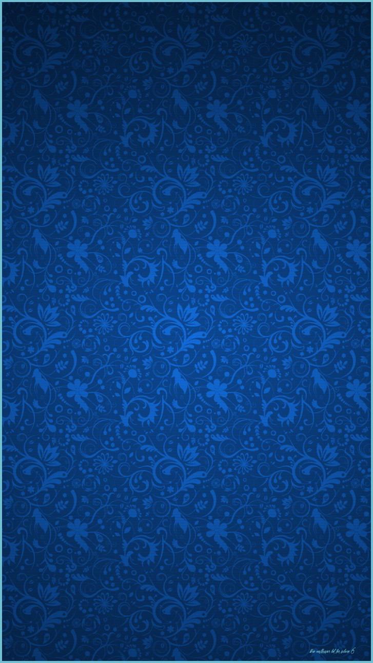 Blue Floral Ornament Pattern iPhone 12 Wallpaper HD 727x1293