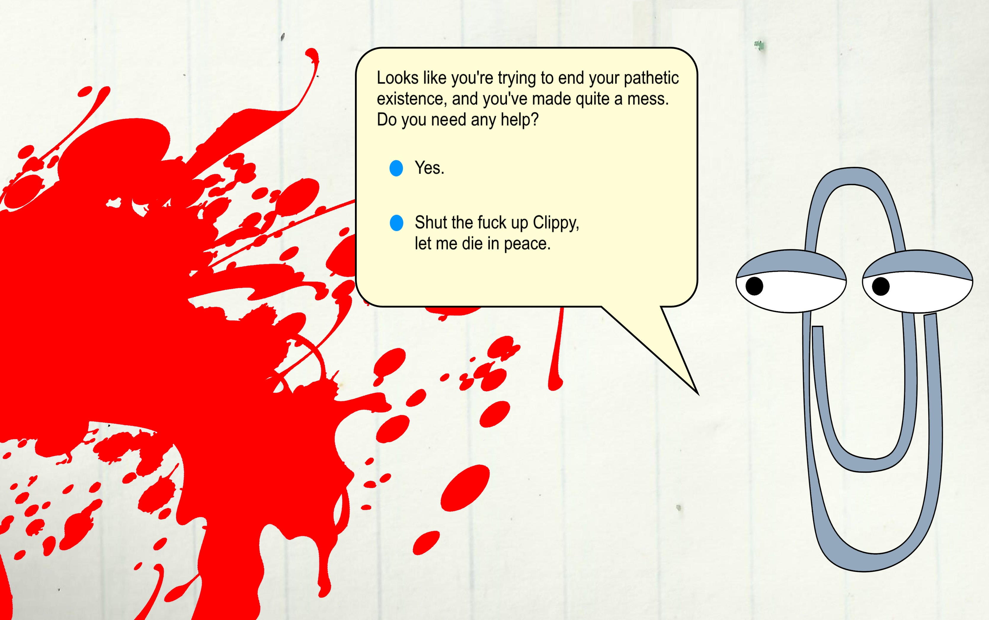Condescending Clippy by TheDrifterWithin 3338x2092