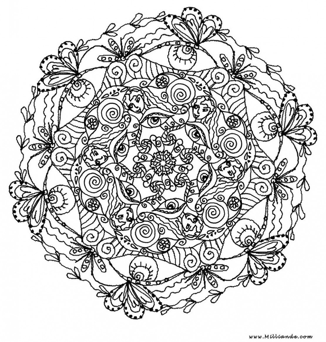 Coloring Pages for Adults   Large Images 1110x1163