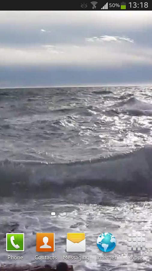 ocean waves live wallpaper hd with calming effect showing a blue ocean 506x900