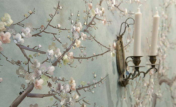 hand painted silk wallpaper by Fromental Hamilton Park West Pinte 700x427