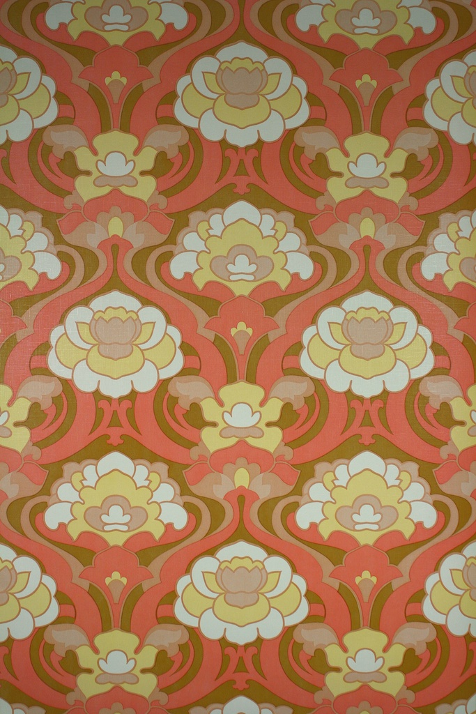 Retro Geometric Vinyl Wallpaper 683x1024