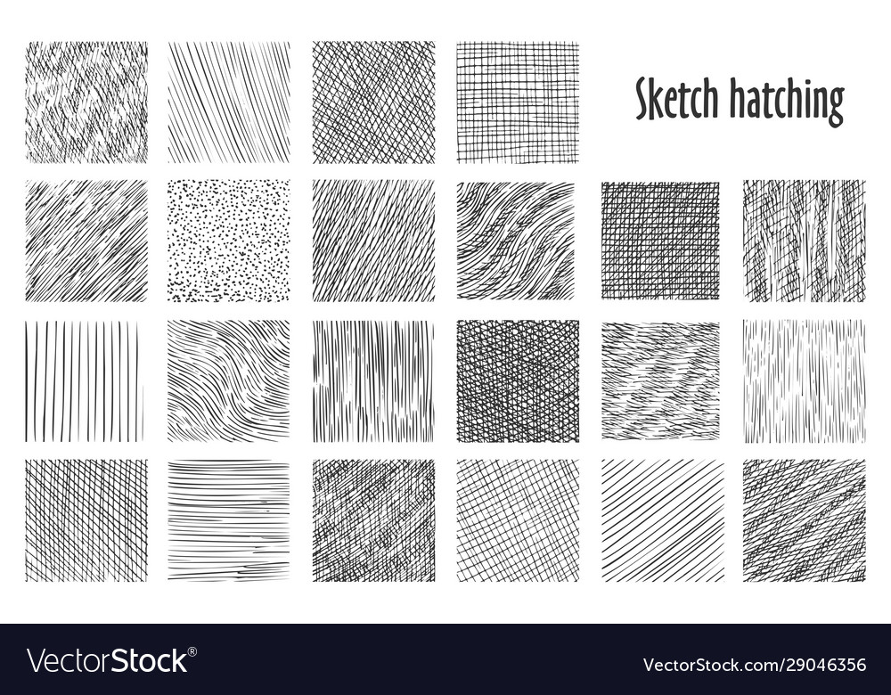 Sketch hatching abstract pattern backgrounds Vector Image 1000x780