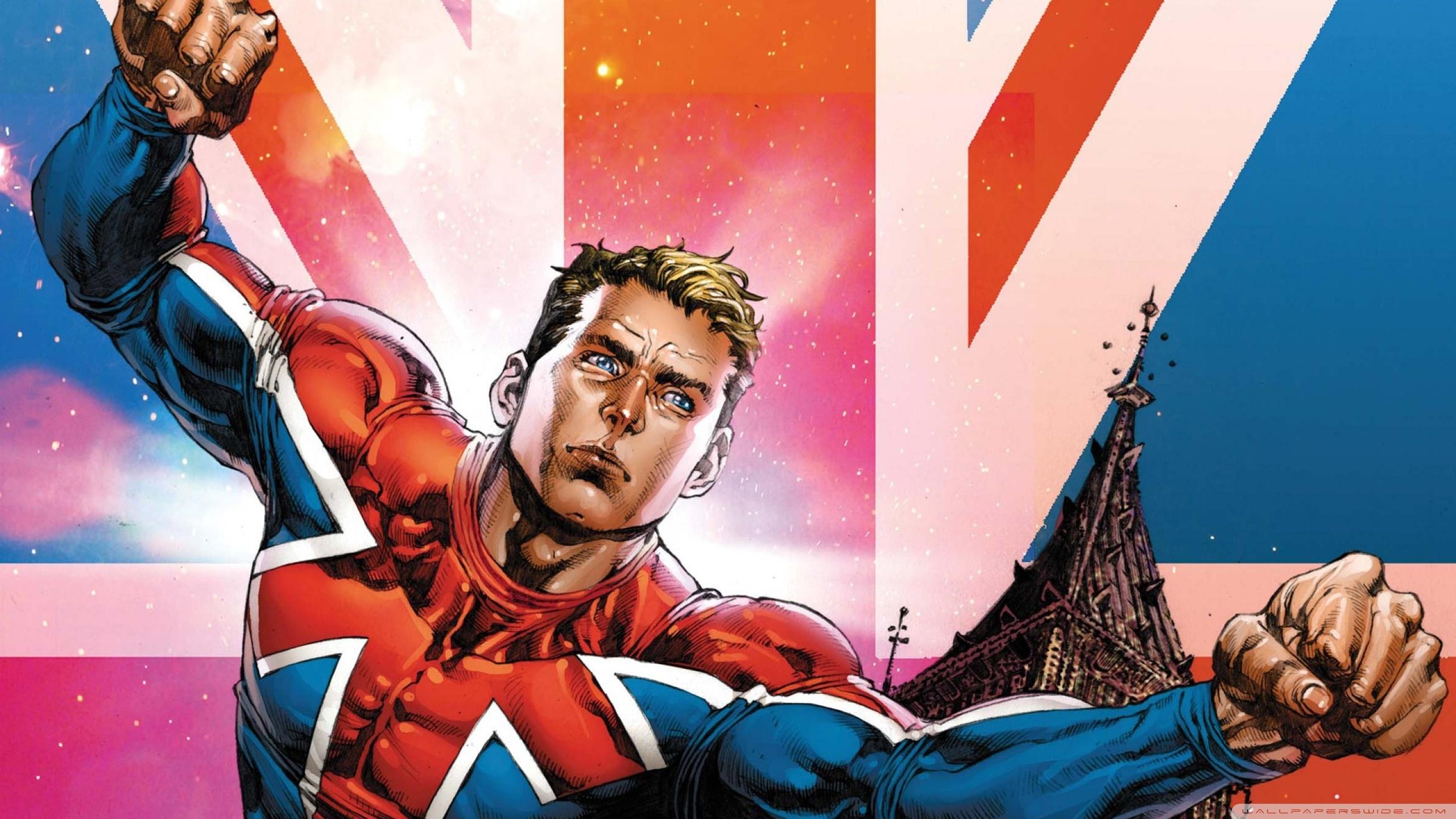 Captain Britain 4K HD Desktop Wallpaper for 4K Ultra HD TV 2560x1440