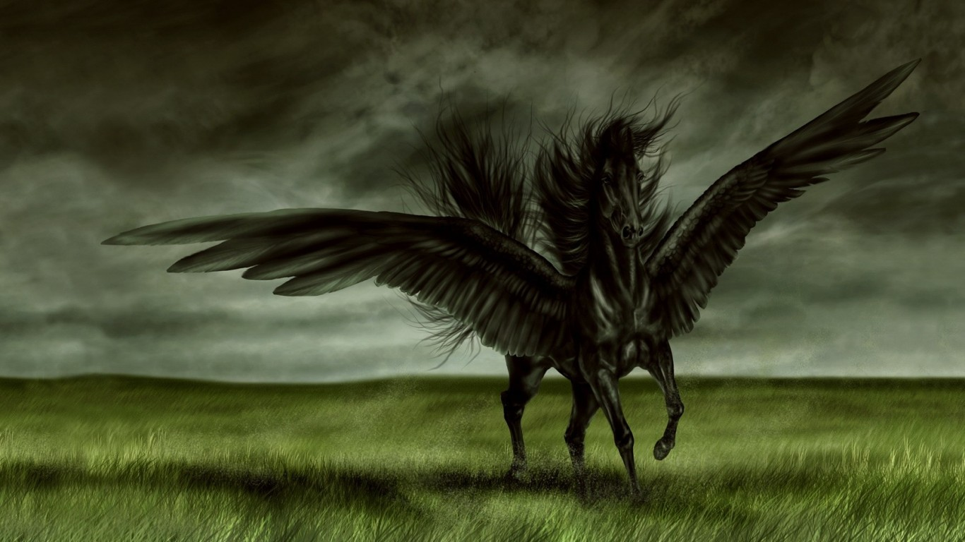 Hd wallpaper horse - 189045 Awesome Angel Black Horse Hd Wallpaper Image For Your Pc Laptop