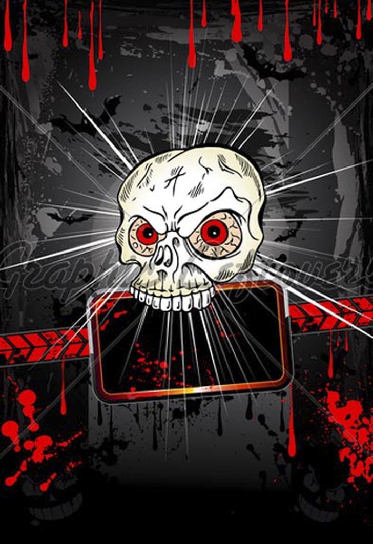 Cool Halloween Graffiti Wallpaper 728x1062