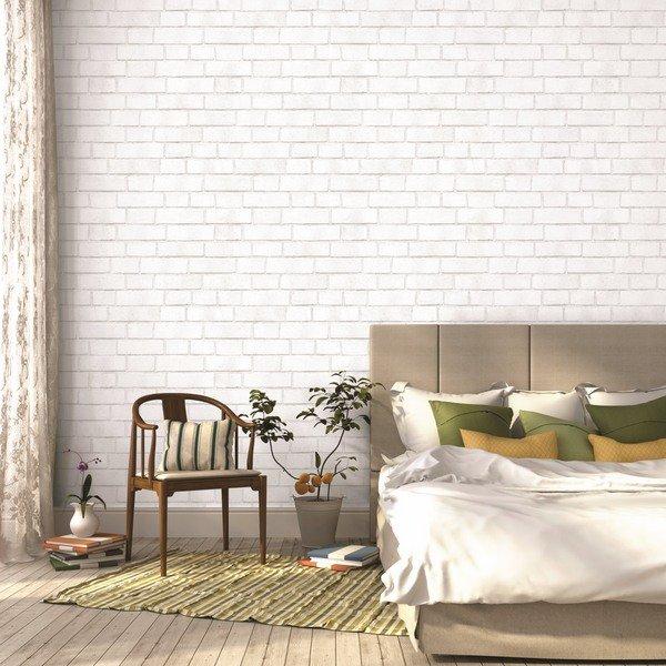 Free Download White Brick Textured Temorary Wallpaper Wood Floor Bedroom Decor Ideas 600x600 For Your Desktop Mobile Tablet Explore 50 White Brick Wallpaper Ideas Dark Brick Wallpaper Brick Style