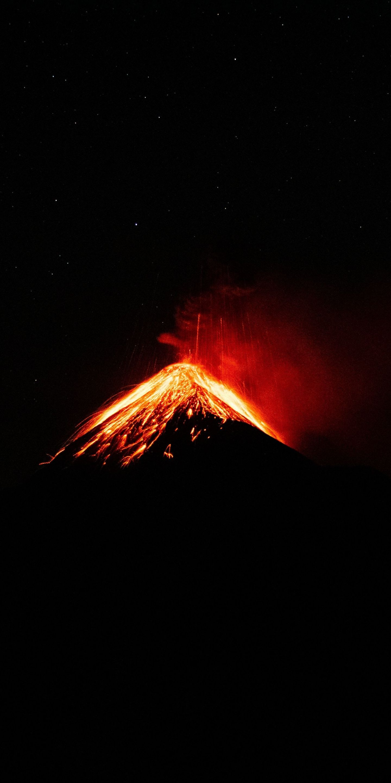 1440x2880 Minimal peak on fire Volcano wallpaper Volcano 1440x2880
