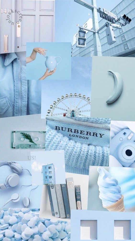 Blue Aesthetic Collage Wallpapers Cool Backgrounds 564x1003
